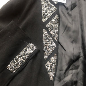 H&M Jackets & Coats - 3/$30 NWT H&M Embellished Black Open Blazer 4